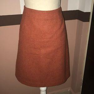 Ann Taylor wool skirt burnt orange size 10